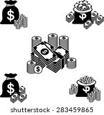 money and coin icon set  vector ... | Shutterstock .eps vector #283459865