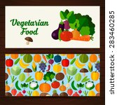 fruits and vegetables banners.... | Shutterstock .eps vector #283460285
