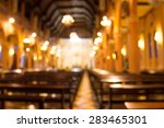 Blurred Photo Of Church...