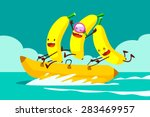 illustration of tree bananas... | Shutterstock .eps vector #283469957