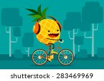 illustration of pineapple... | Shutterstock .eps vector #283469969