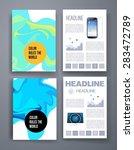 templates. set of flyer ... | Shutterstock .eps vector #283472789