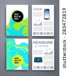 templates. set of flyer ... | Shutterstock .eps vector #283472819