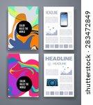 templates. set of flyer ... | Shutterstock .eps vector #283472849