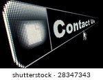 Contact Us concept for an internet web page - stock photo