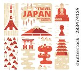 travel japan infographic... | Shutterstock .eps vector #283474139