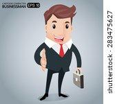 business deal  hand shake  | Shutterstock .eps vector #283475627