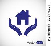 house vector icon | Shutterstock .eps vector #283476134