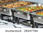 banquet table with chafing dish ... | Shutterstock . vector #28347784