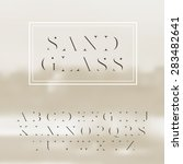vector high contrast font ... | Shutterstock .eps vector #283482641