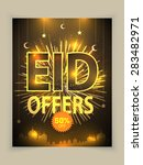 eid offers poster  banner or... | Shutterstock .eps vector #283482971