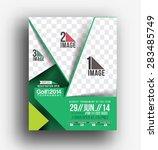 golf tournament front flyer  ... | Shutterstock .eps vector #283485749