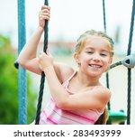 cute beautiful smiling little... | Shutterstock . vector #283493999