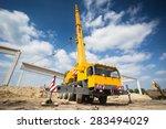 mobile crane | Shutterstock . vector #283494029