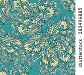seamless pattern with doodle... | Shutterstock .eps vector #283496885