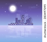 night city background | Shutterstock . vector #283497095
