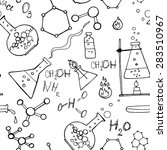 doodle style seamless science ...   Shutterstock . vector #283510967