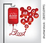 blood donation concept. vector... | Shutterstock .eps vector #283510991