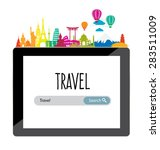 travel and tourism concept... | Shutterstock .eps vector #283511009