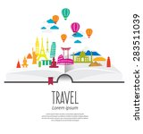travel and tourism concept... | Shutterstock .eps vector #283511039