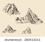 rocky mountain scenery sketch... | Shutterstock .eps vector #283513211