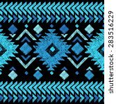 Bright hand drawn tribal seamless pattern | Shutterstock vector #283516229