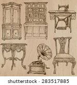 furniture  pack no.4   ... | Shutterstock .eps vector #283517885