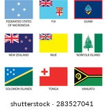 illustrated flags from the...   Shutterstock .eps vector #283527041