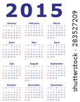 simple european 2015 year... | Shutterstock . vector #283527209