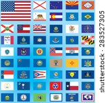 illustrated flags from the... | Shutterstock .eps vector #283527305