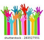 hands together   Shutterstock .eps vector #283527551