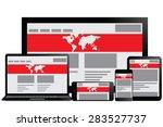illustrative responsive web... | Shutterstock .eps vector #283527737