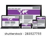 responsive design for web ... | Shutterstock . vector #283527755