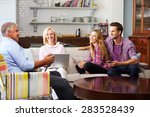 parents with adult offspring... | Shutterstock . vector #283528439