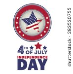 independence day design over... | Shutterstock .eps vector #283530755