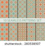 set of vintage geometric... | Shutterstock .eps vector #283538507