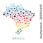 dotted texture brazil vector... | Shutterstock .eps vector #283541645