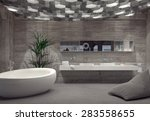 Modern Grey Luxury Bathroom...