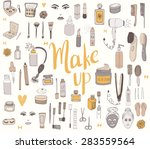 the set of hand drawn beauty... | Shutterstock .eps vector #283559564