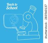 back to school design over blue ... | Shutterstock .eps vector #283560137