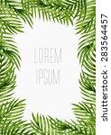 palm leaves background.... | Shutterstock .eps vector #283564457