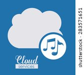 cloud services over blue... | Shutterstock .eps vector #283571651