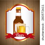 cold beer design  vector... | Shutterstock .eps vector #283572611