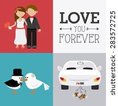 wedding card design over... | Shutterstock .eps vector #283572725