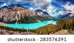 Beautiful Aqua Blue Mountain...