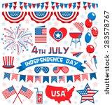 usa celebration flat national... | Shutterstock .eps vector #283578767