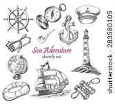 vector collection of sea... | Shutterstock .eps vector #283580105
