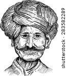 indian man | Shutterstock .eps vector #283582289