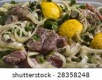 raw meat - stock photo