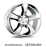 alloy wheel rim isolated on... | Shutterstock . vector #283586384